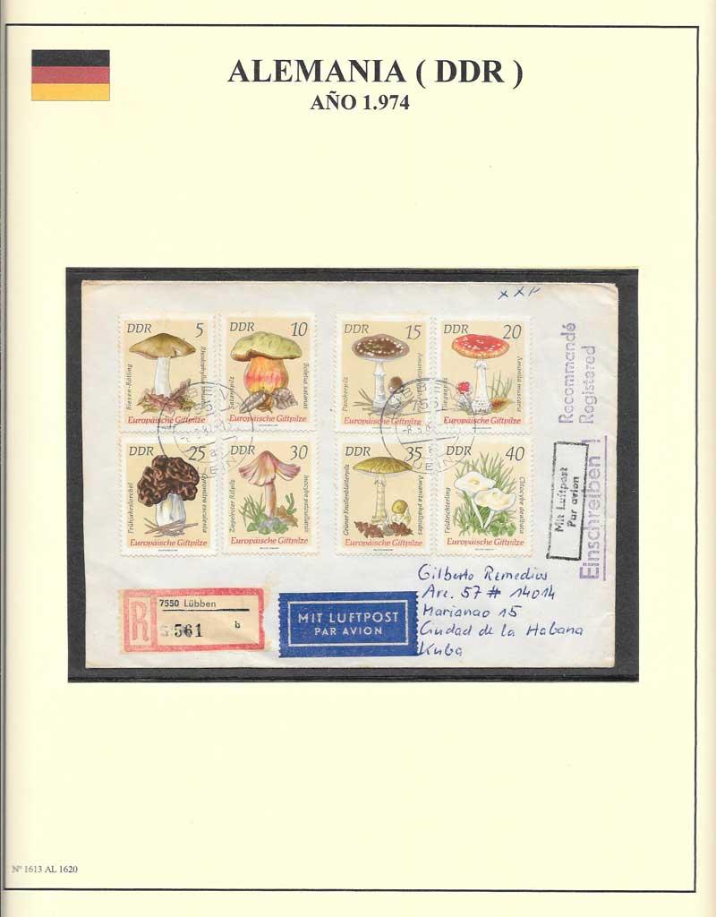 sellos setas de Alemania Oriental