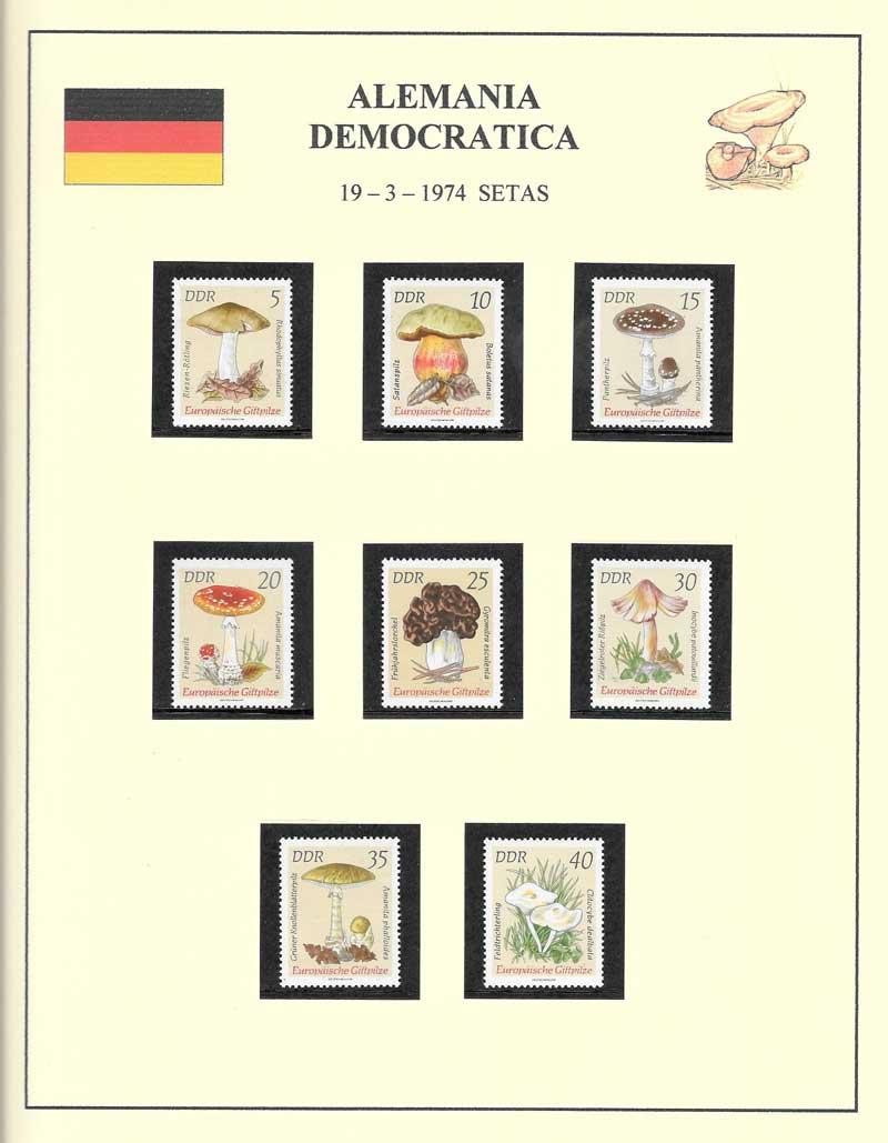 sellos de Alemania tema hongos