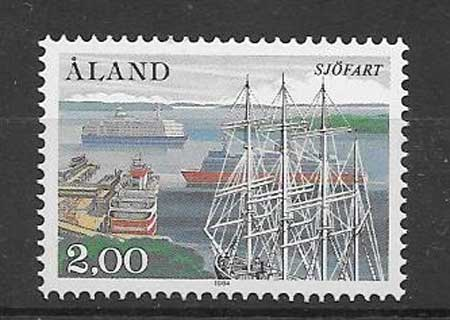 Sellos navegación Aland 1984