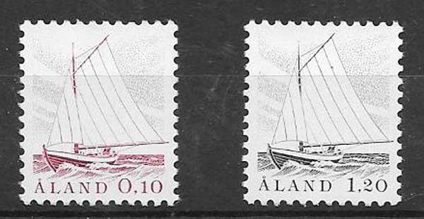 Sellos barcos Aland 1985