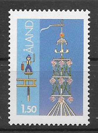 Sellos costumbres Aland 1985