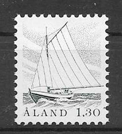 Filatelia barco Aland 1986