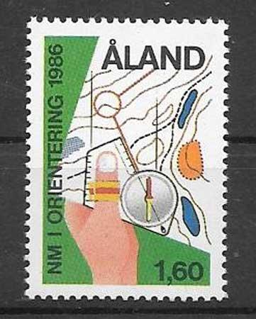 Filatelia Aland 1986  curso
