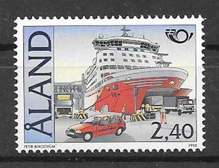 sellos navegación Aland 1998