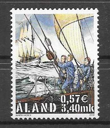 Sellos veleros Aland 2000