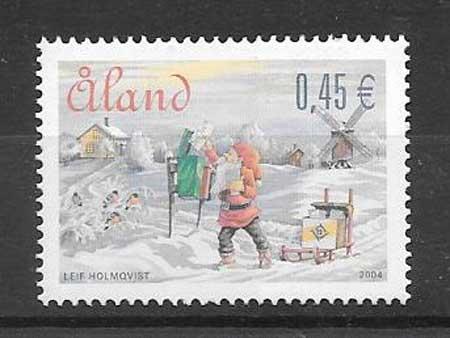 sellos Aland 2004 navidad