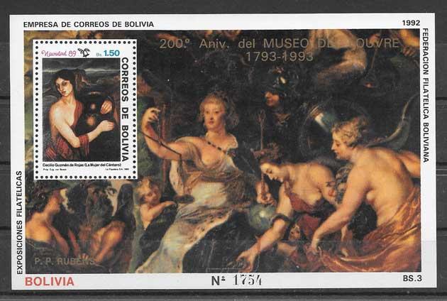 Colección sellos arte Bolivia