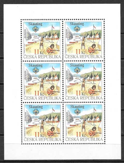 Colección sellos Tema Europa Chequia 2007