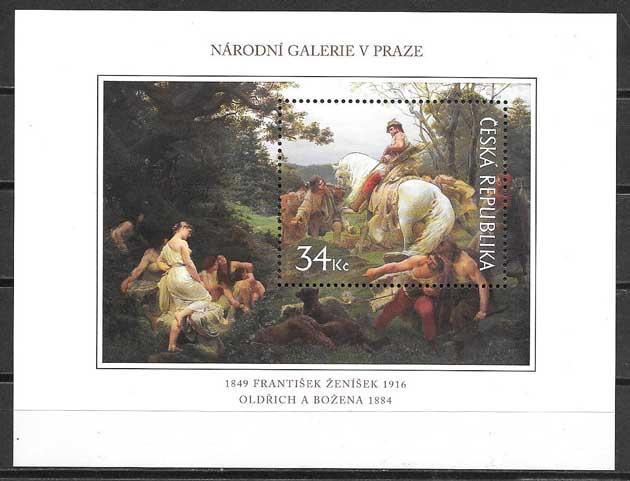 sellos pintura Chequia 2009