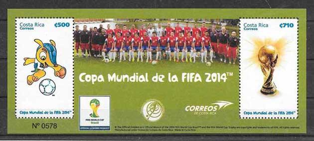 sellos Fútbol Costa Rica 2014