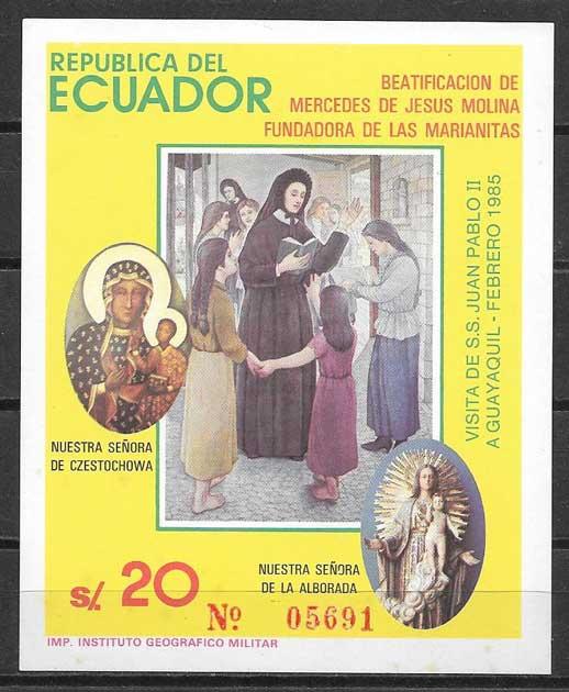 Sellos Beatificación Ecuador 1985