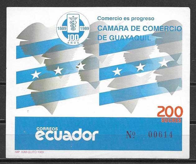 sellos Cámara Comercio Ecuador 1989