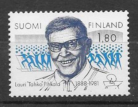 sellos personalidad Finlandia 1988