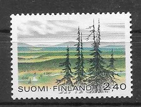sello Parques naturales Finlandia 1988