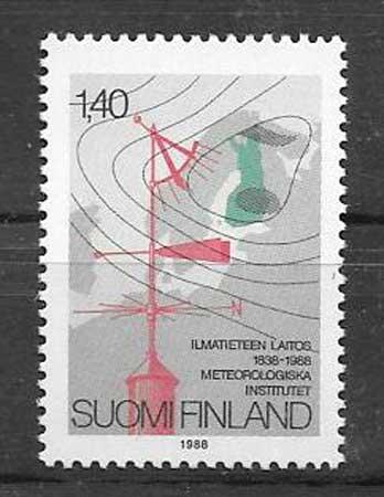 Sellos meteorología Finlandia 88