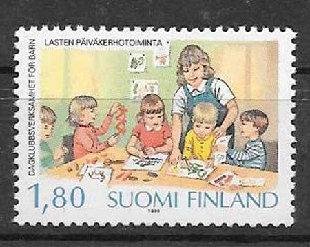sellos infantes Finlandia 1988