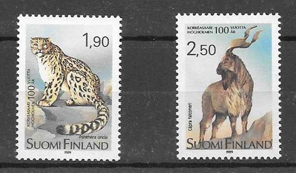 Sellos fauna 1989 Finlandia