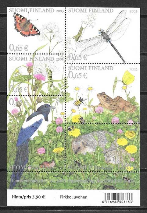 Filatelia fauna y flora Finlandia 2003