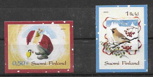 Colección sellos navidad Finlandia 2006