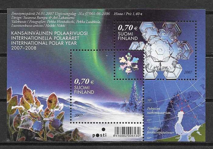 Sellos Año Polar Finlandia 2007