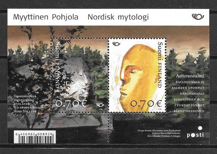 Estampillas mitología Finlandia 2008