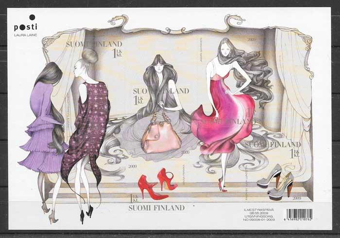 Filatelia moda Finlandia 2009