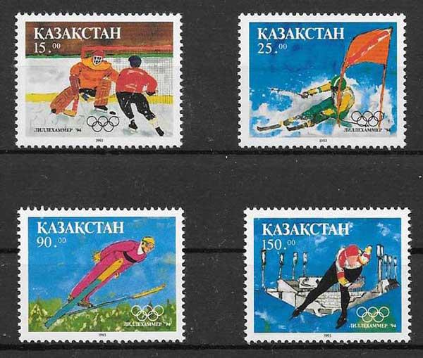 Filatelia olimpiada Kazastán 1993