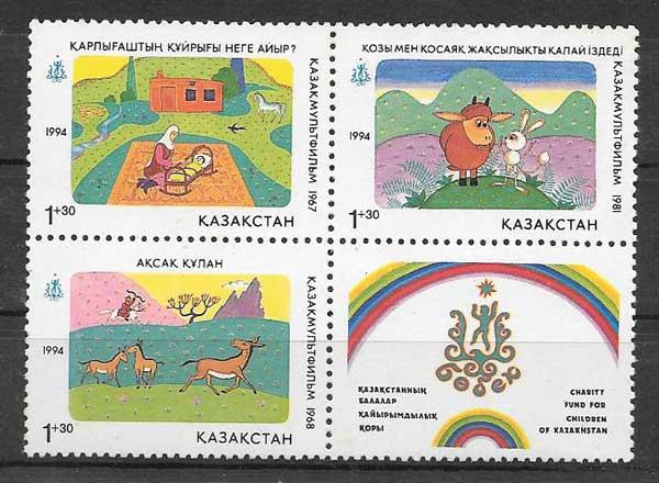 Filatelia beneficiencia Kazastán 1994