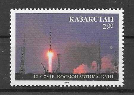 Estampillas cosmo Kazastán 1994