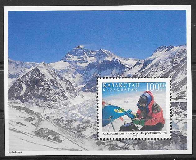 Estampilla Everest Kazastán 1998
