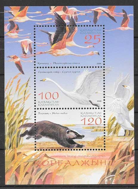 Filatelia fauna Kazsatán 2006