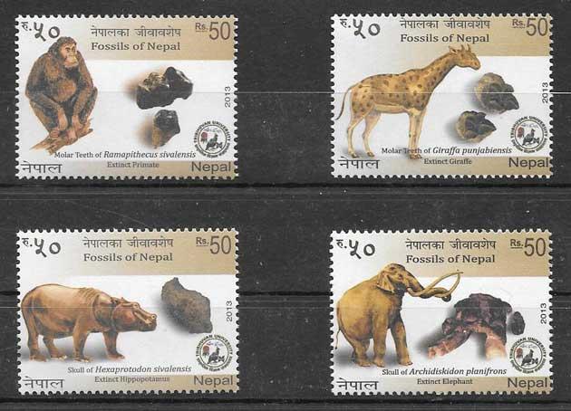 colección sellos Arqueología Nepal 2013