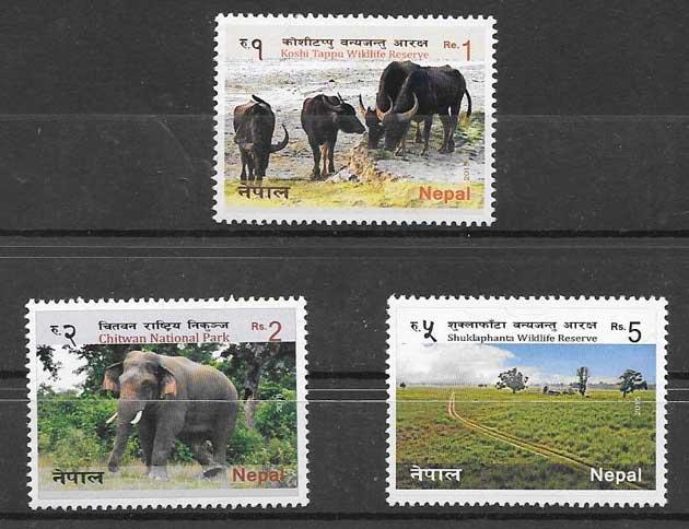 sellos reserva natural Nepal 2015