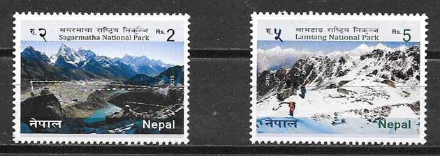 sellos parques nacionales Nepal 2015