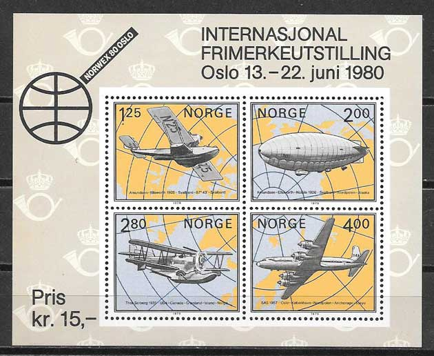Filatelia Noruega transporte 1979