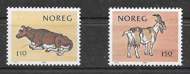 Sellos fauna Noruega 1981