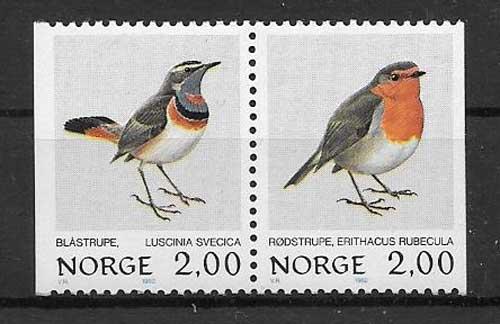 Estampillas fauna Noruega 1982