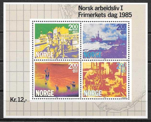 Filatelia día del sello Noruega 1985