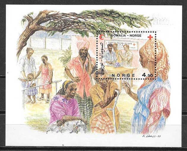 sello ayuda Somalia Noruega 1987