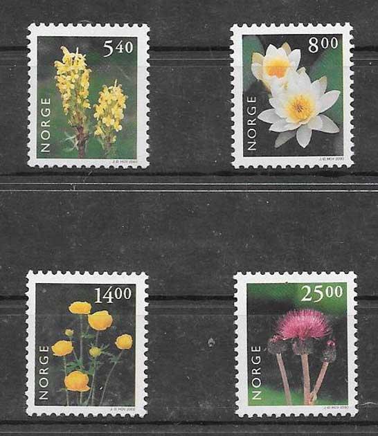 sellos flora Noruega 2000