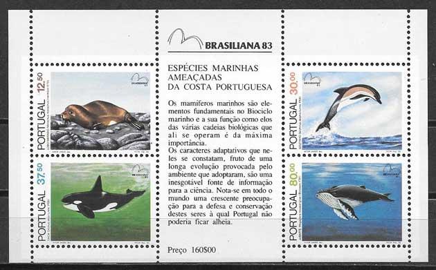 Sellos fauna Portugal 1983