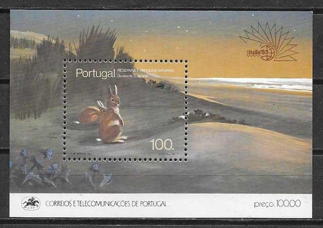 Filatelia Parques naturales Portugal 1985