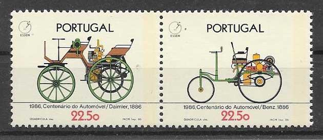 Filatelia transporte Portugal 1986
