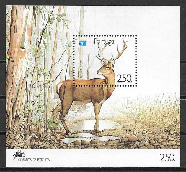 Colección sellos turismo Portugal 1991
