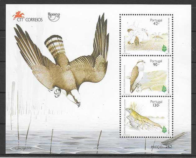 Colección sellos fauna Portugal 1995