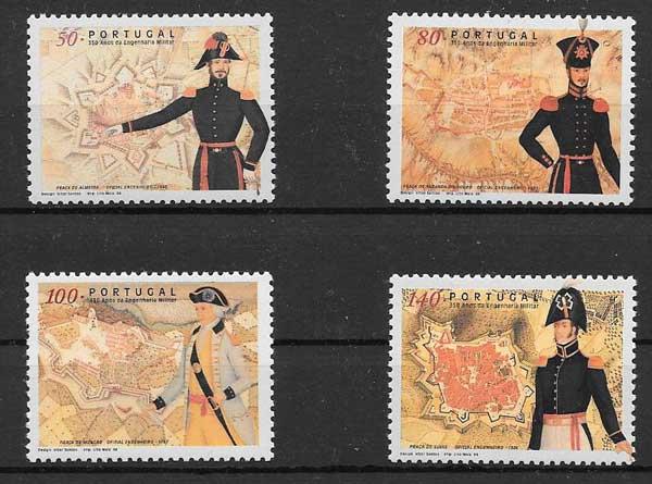 sellos militares Portugal 1998