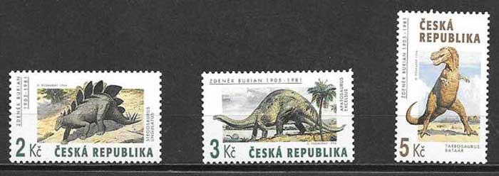 sellos Tchequia fauna 1994