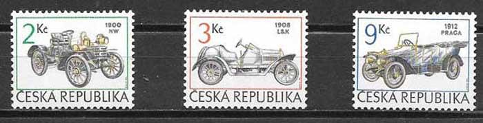 sellos automóviles Tchequia 1994