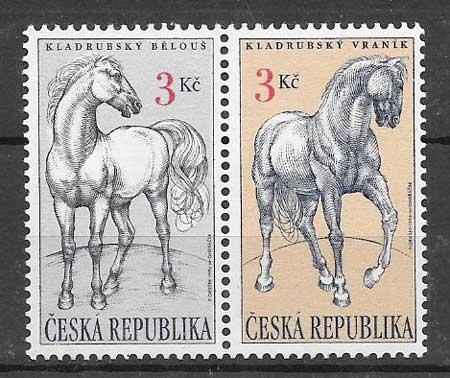 Filatelia fauna Tchequia 1996