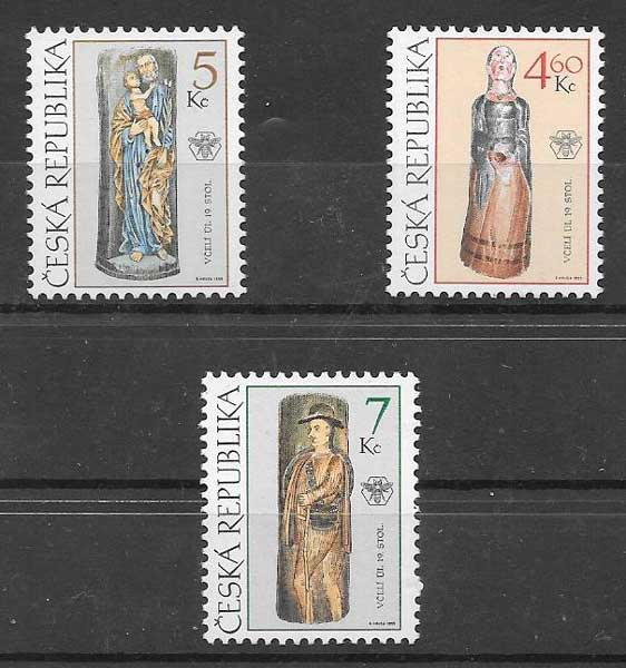sellos arte Tchequia 1999